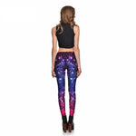 Load image into Gallery viewer, Gradient Galaxy Geometric Box Stitching Box Print Leggings