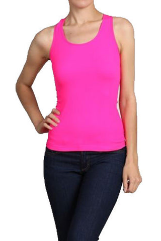 Neon Womens Athletic Racerback Spandex Workout Tank Top