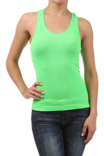 Load image into Gallery viewer, NEON SEAMLESS BASIC RIB-KNIT RACERBACK TANK TOP ONE SIZE ATHLETIC SPORT T-SHIRT - Neon Nation