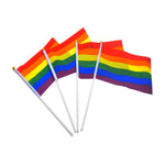 Load image into Gallery viewer, 10 Pack Hand Waving Gay Pride LGBTQ Flag