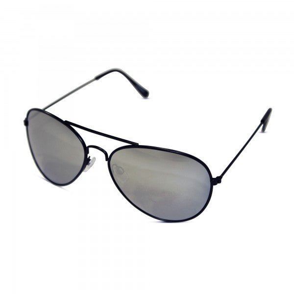 Classic Silver Mirrored Aviator Sunglasses - Neon Nation