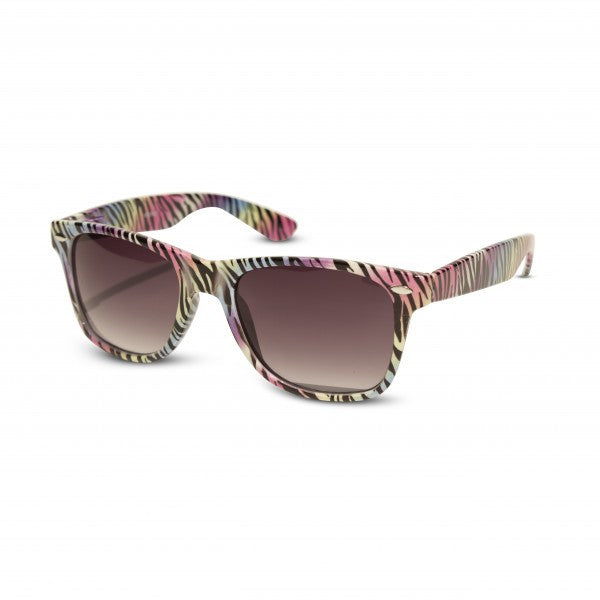Zebra & Animal Print Wayfarer Sunglasses Rainbow