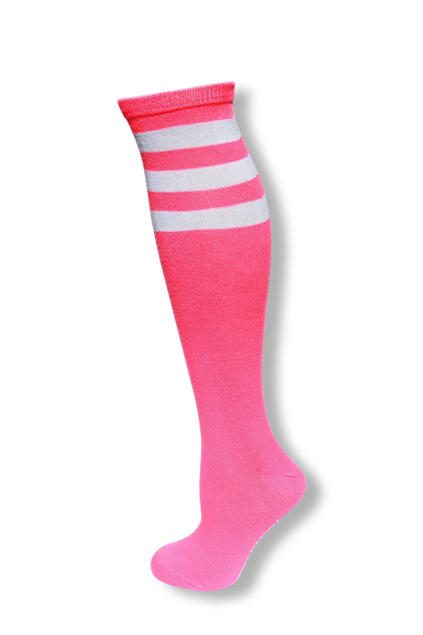 629206124ee Neon Pink with White Stripes Knee High Sock – Neon Nation
