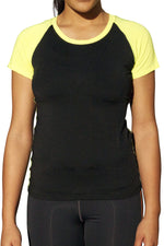 Load image into Gallery viewer, Neon Nation Athletic Stretchy Tshirt w/ Colored Cap Sleeve - Neon Nation