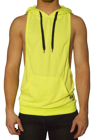 NEON Yellow American Apparel Flex Fleece Zip Hoodie w/ Pocket Sweatshirt Trendy