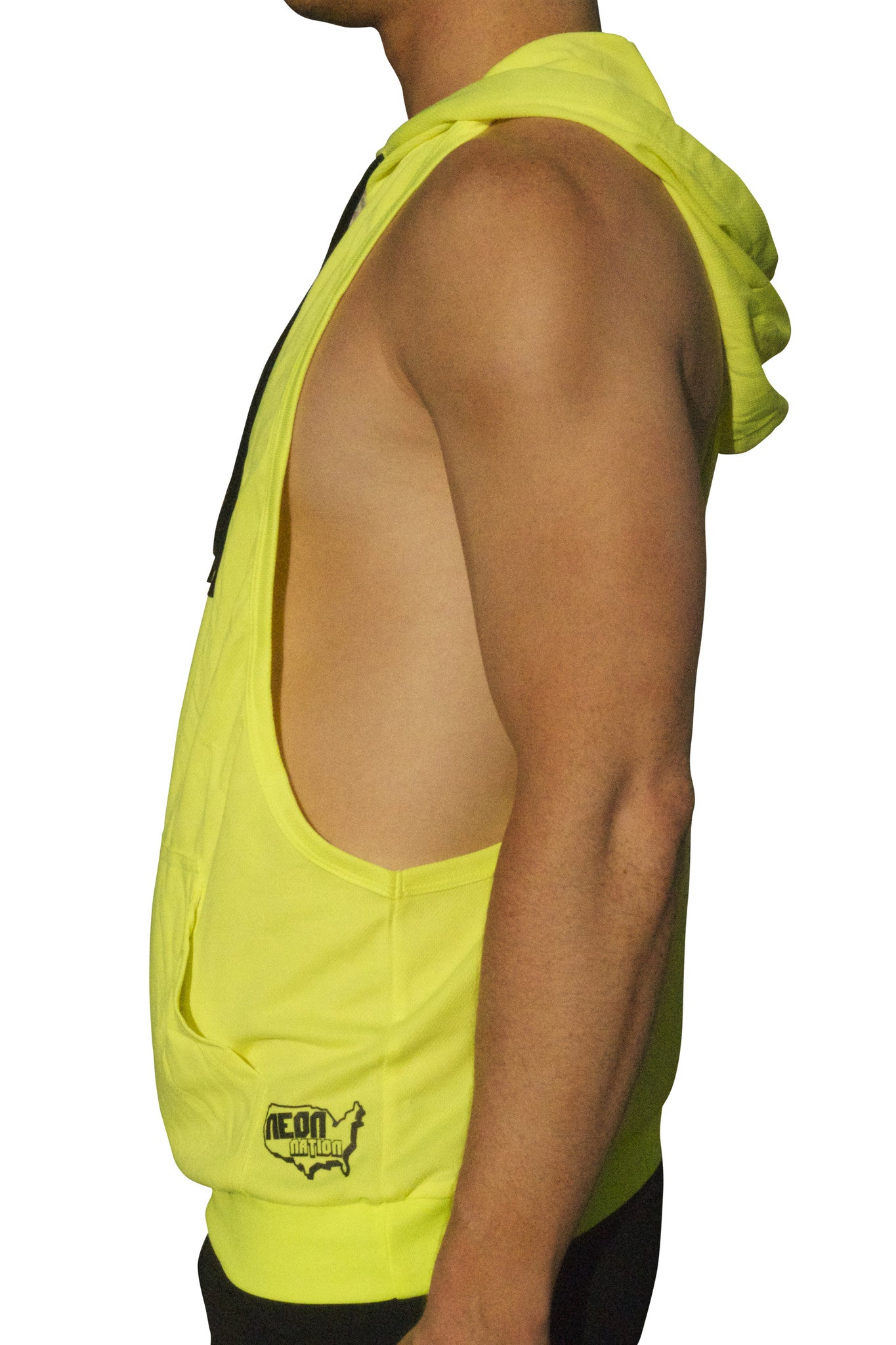 6850231c6c2a01 Neon Nation Muscle Cut Athletic Bodybuilder Stringer Tank Top Hoodie - Neon  Nation