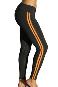 Neon Womens Athletic Stripes Spandex Workout Pants - Neon Nation