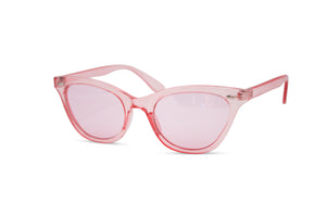 Clear Princess Cat Eye Neon Frame Wayfarer Sunglasses