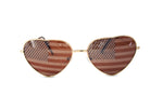 Load image into Gallery viewer, Heart Shaped American US Flag Stars & Stripes Sunglasses