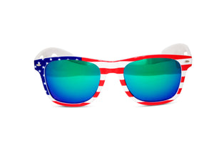 US American Flag Stars & Stripes Framed Wayfarer Sunglasses