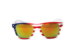 Load image into Gallery viewer, US American Flag Stars & Stripes Framed Wayfarer Sunglasses