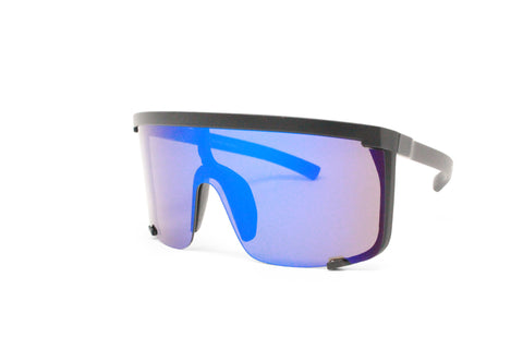 Futuristic Mirrored Wrap Around Costume Sunglasses