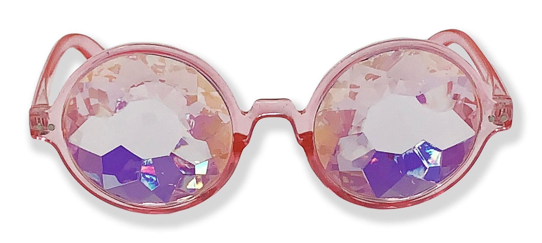 Round Holographic Kaleidoscope Party Glasses