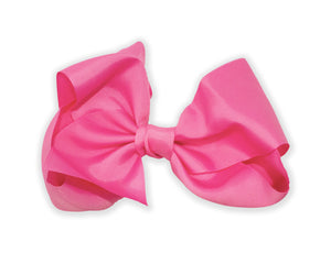 Pink Series - Large Jumbo Bow Tie Alligator Hair Clip