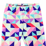 Load image into Gallery viewer, Neon Nation Multi Color Geometrical Square 3D Print Pattern Leggings Pants - Neon Nation