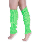 Load image into Gallery viewer, Neon Colorful Knit Ribbed Adult Size Knee High Leg Warmers 80s Costume