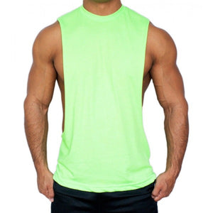 Muscle Cut Stringer Workout Tank Top T-Shirt by American Apparel - Neon Nation