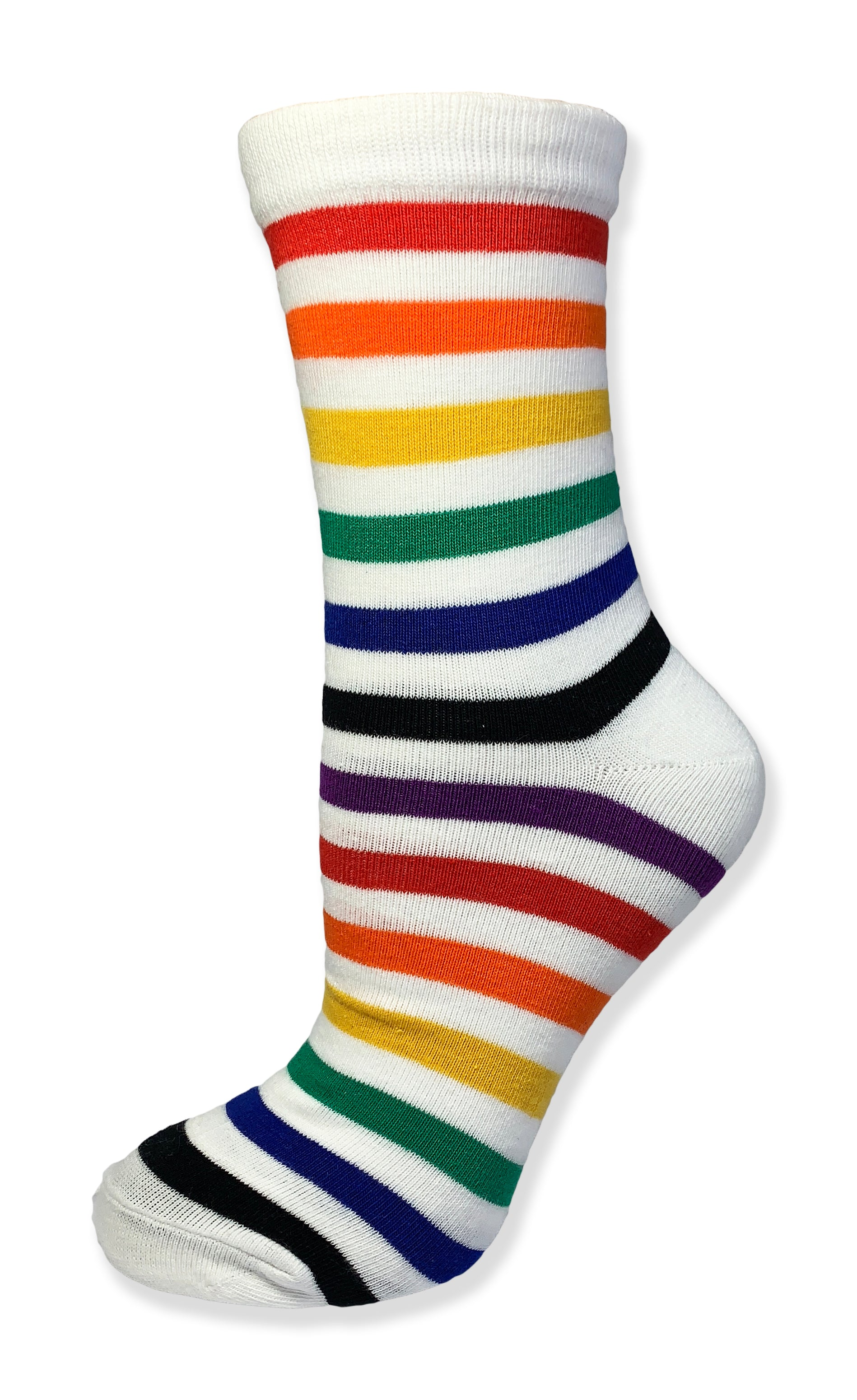 Unisex Ankle Height Rainbow Striped Sock