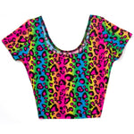 Load image into Gallery viewer, Neon Rainbow Animal Leopard Print Tank Crop Top Sexy Spandex Shirt Rave Costume - Neon Nation