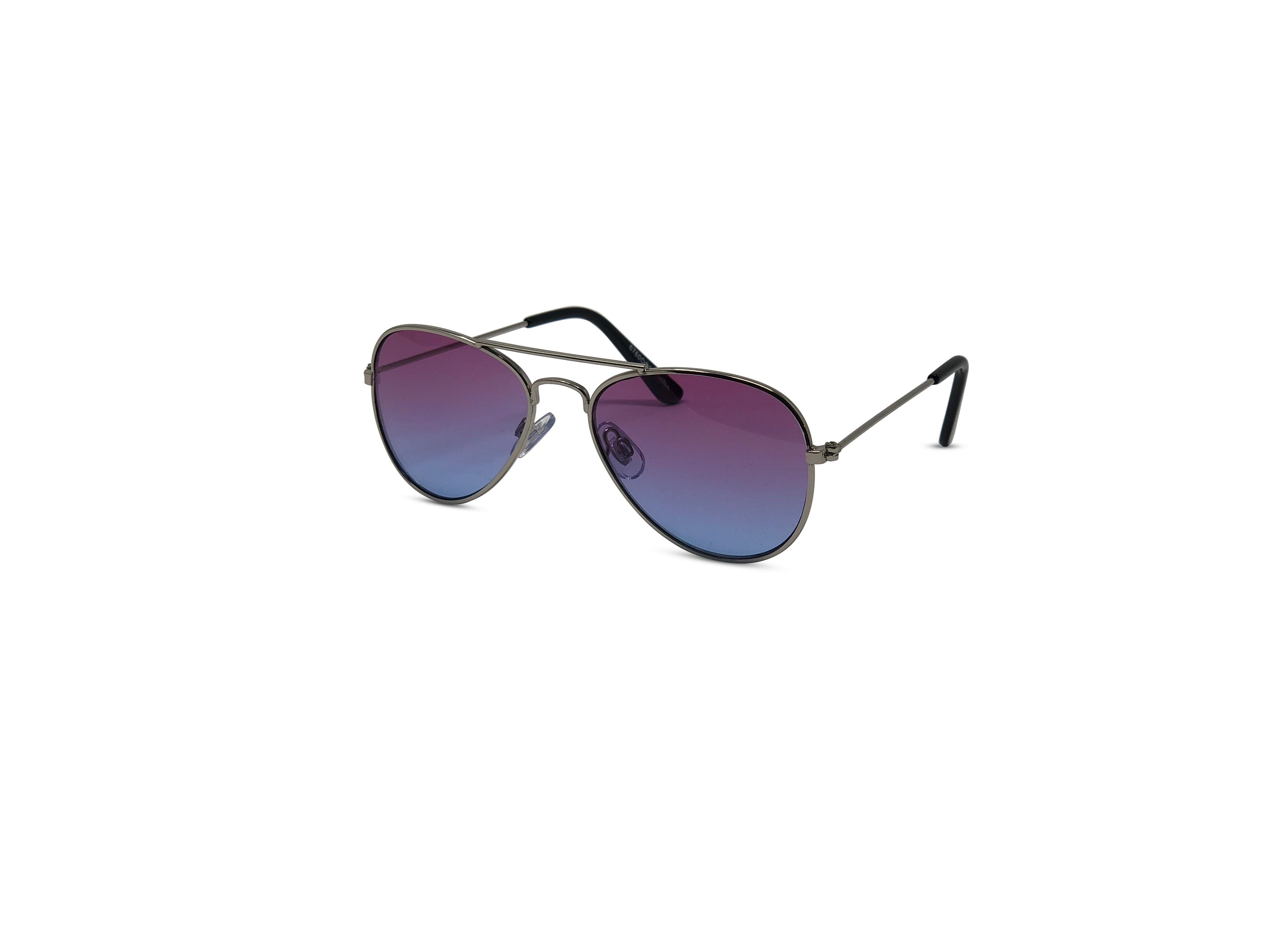 Unisex Kid Sized Ombre Colored Translucent Style Sunglasses