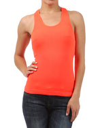 Load image into Gallery viewer, Neon Basic Rib-Knit Racerback Athletic Tank Top