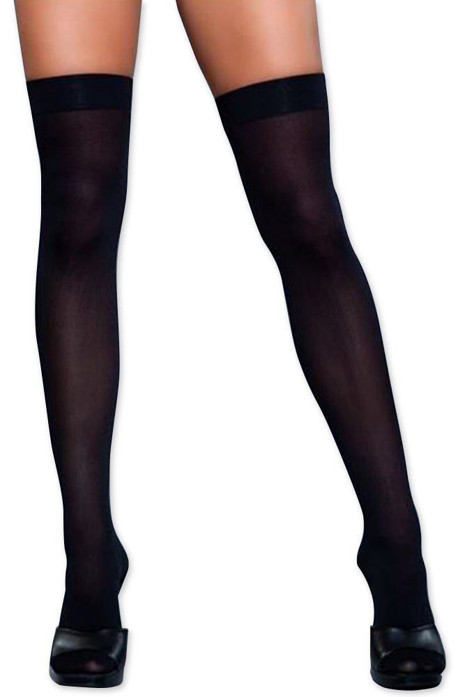 Women's Colored Opaque Thigh High Stockings