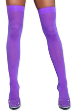 Load image into Gallery viewer, Women's Colored Opaque Thigh High Stockings