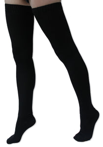 Extra Long Solid Color Thigh High Knit Socks