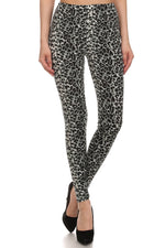 Load image into Gallery viewer, Gray Cheetah Leopard Spot Animal Print Leggings Pants - Neon Nation