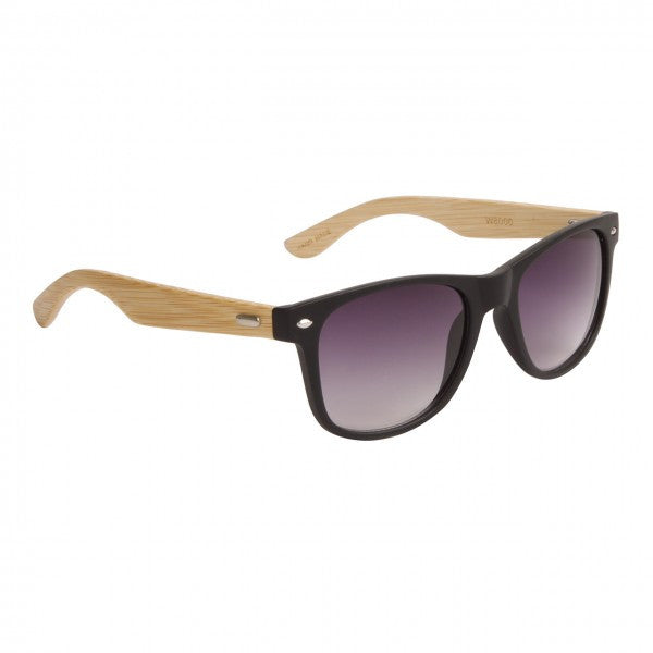 Hand Made Wayfarer Sunglasses  with Bamboo Wooden Temples - Neon Nation