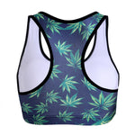 Load image into Gallery viewer, Weed Leaf Green Marijuana Print Racerback Crop Top Tank Top