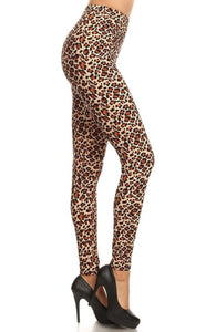Leopard Animal Print High Waist Leggings