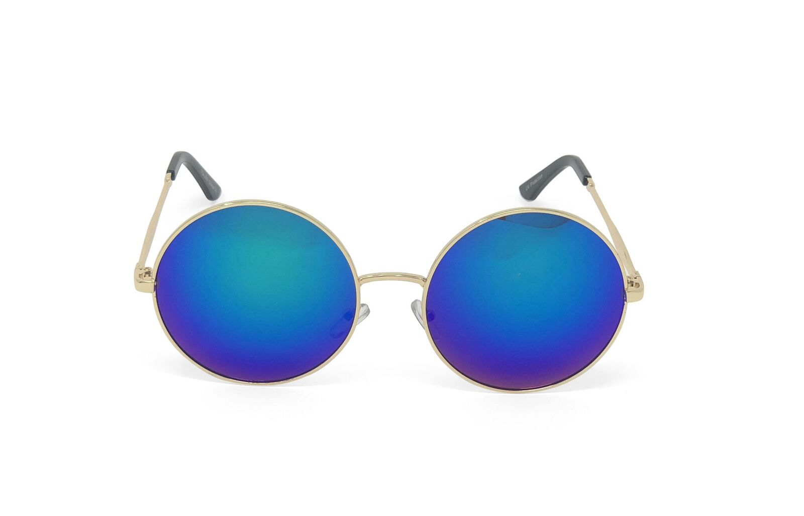 Round Large Circular Colored Mirrored Sunglasses