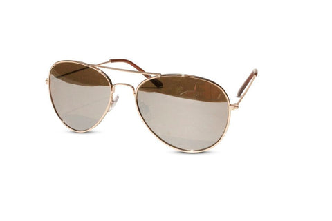 54bff2aad Lot of 12 Pack of Classic Gold Frame Aviator Sunglasses w/ Silver Mirrored  Lens