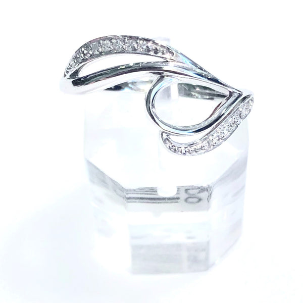 10K Swirl Diamond Semi Mount Ring