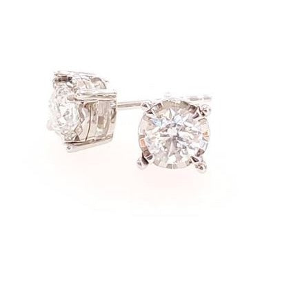 .75ctw Tru-Reflection Diamond Stud Earrings