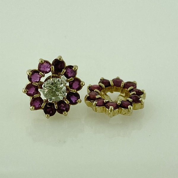 Diamond Studs Ruby Earring Jacket