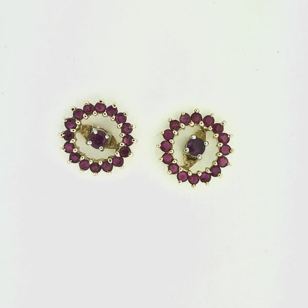 Ruby Stud Earrings with Jacket