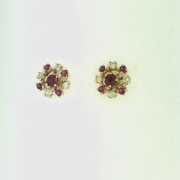 Ruby Earring Studs with Jacket