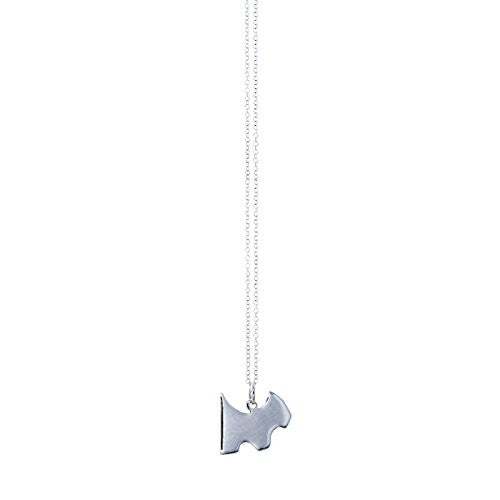 Pop Fashion Silvertone Dog Pendant Necklace with Silvertone Chain and Hanging Charm Pendant