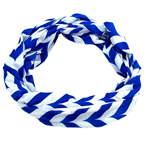 Pop Fashion Womens Chevron Arrow Patterned Infinity Scarf with Hidden Zipper Pocket - Pop Fashion
