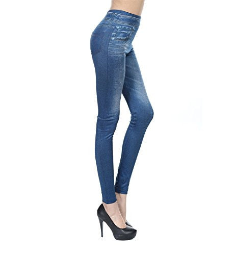 Fashion Jeans for Women, Leggings with Denim Jeans Wash, Stretch Pants, Jeggings - Pop Fashion