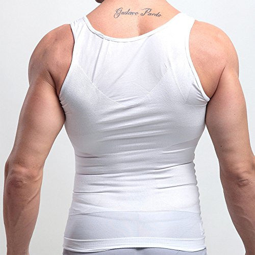 Mens Compression Shirt, Body Shaper Workout Tank Tops Training Shirt Undershirts - Pop Fashion