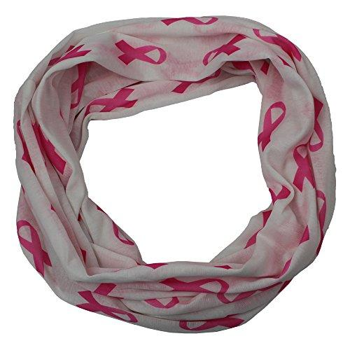 Breast Cancer Awareness Infinity Scarf with Zipper Pocket - Pop Fashion