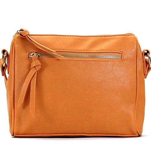 Pop Fashion Womens Classic Shoulder Bag Purse Crossbody Bag (Saddle)