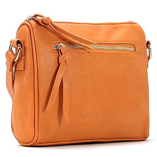 Pop Fashion Womens Classic Shoulder Bag Purse Crossbody Bag (Saddle) - Pop Fashion