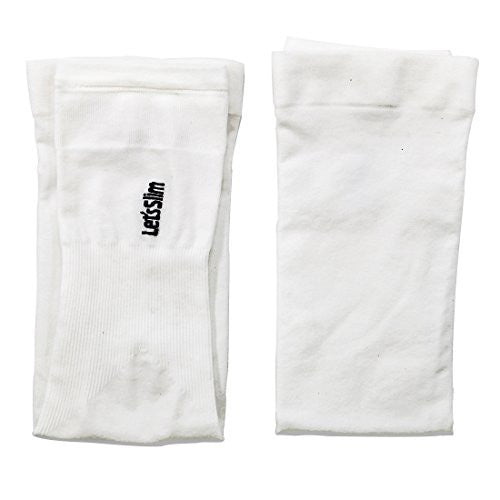 Compression Arm Sleeves, Arm Warmers with thumb holes, UV Protection, Cooling (White) - Pop Fashion