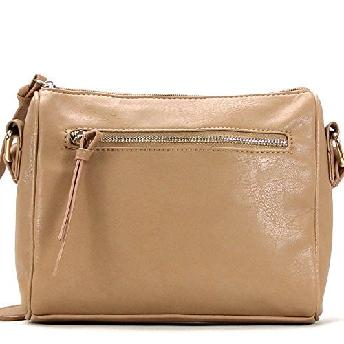 Pop Fashion Womens Classic Shoulder Bag Purse Crossbody Bag (Khaki)