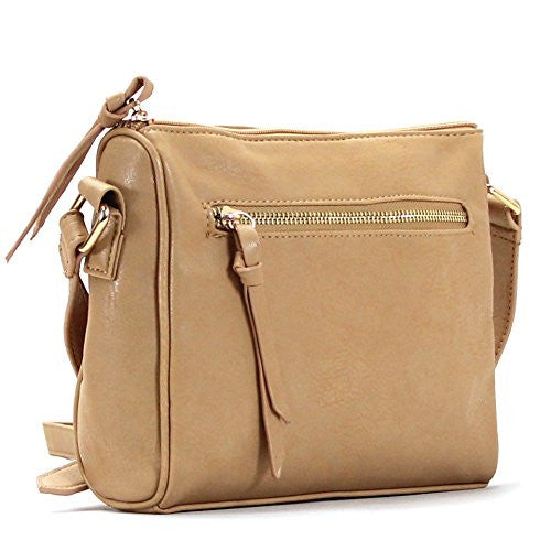 Pop Fashion Womens Classic Shoulder Bag Purse Crossbody Bag (Khaki) - Pop Fashion