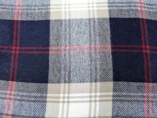Plaid Pattern Scarf with Ultra Soft Feel for Men and Women (Navy/Gray/Red) - Pop Fashion